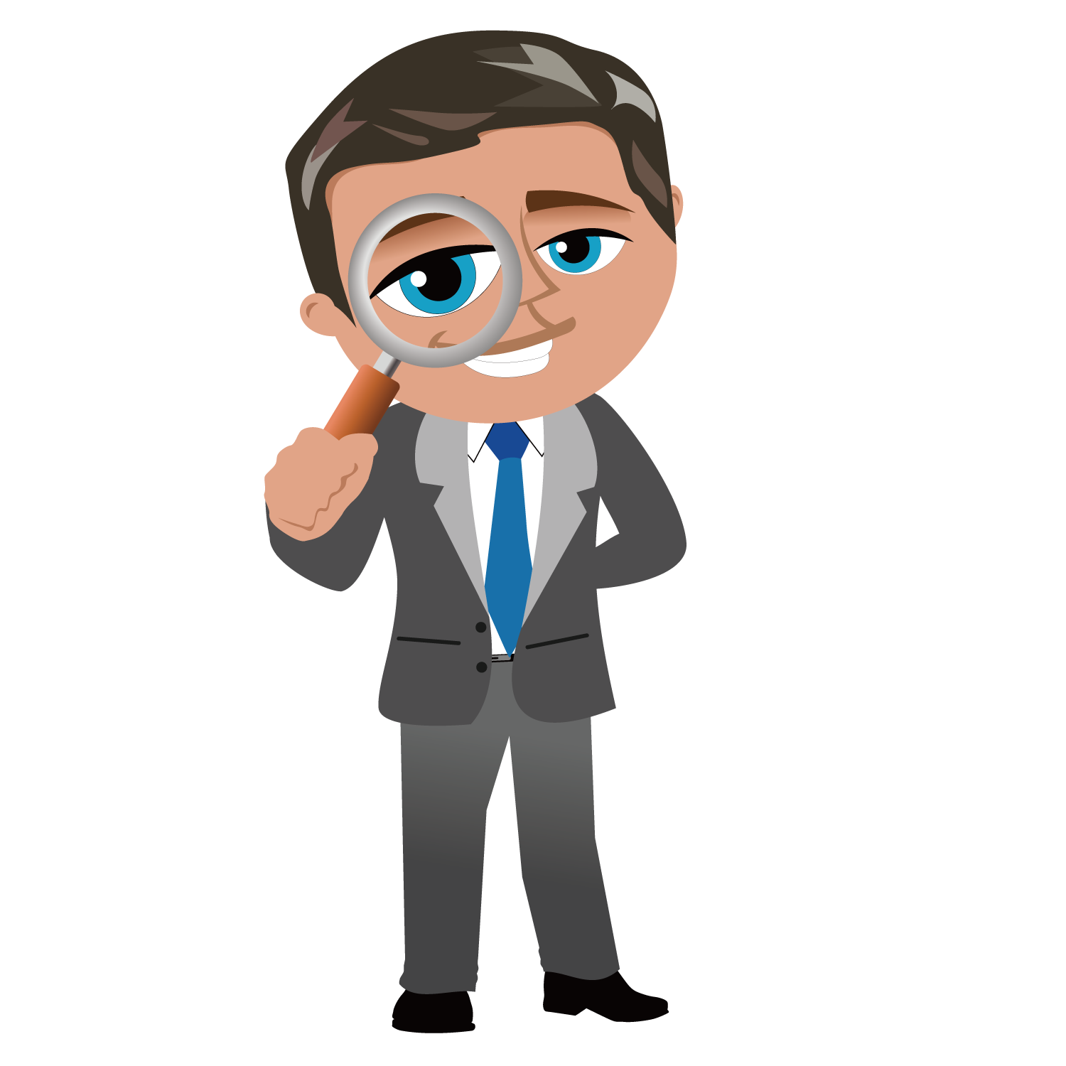 Cartoon businessperson clip art. Manager clipart business person