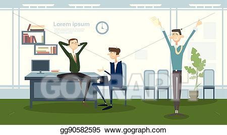 Manager clipart business worker. Vector art man group
