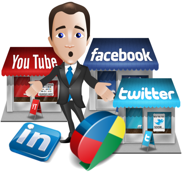 Manager clipart female manager. Social media accounts marketing