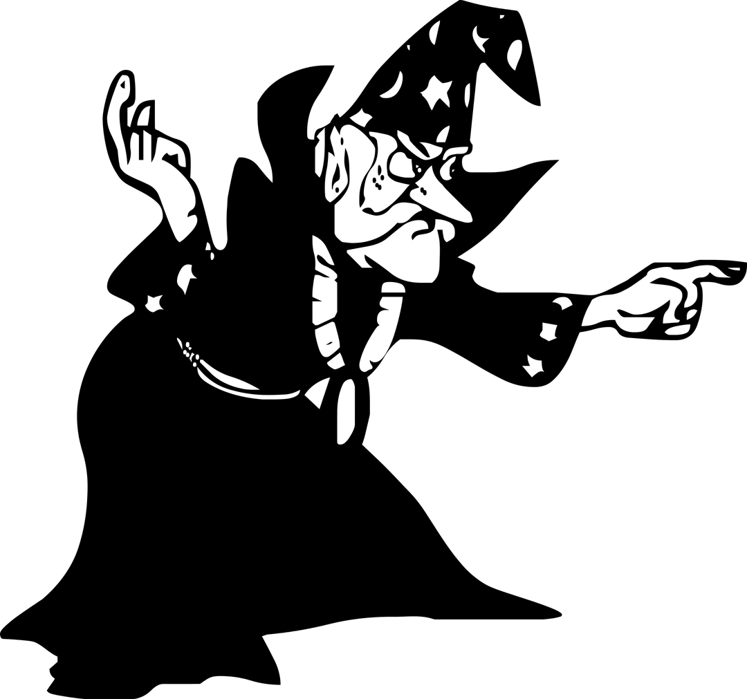 Wizard room digital marketing. Manager clipart founder