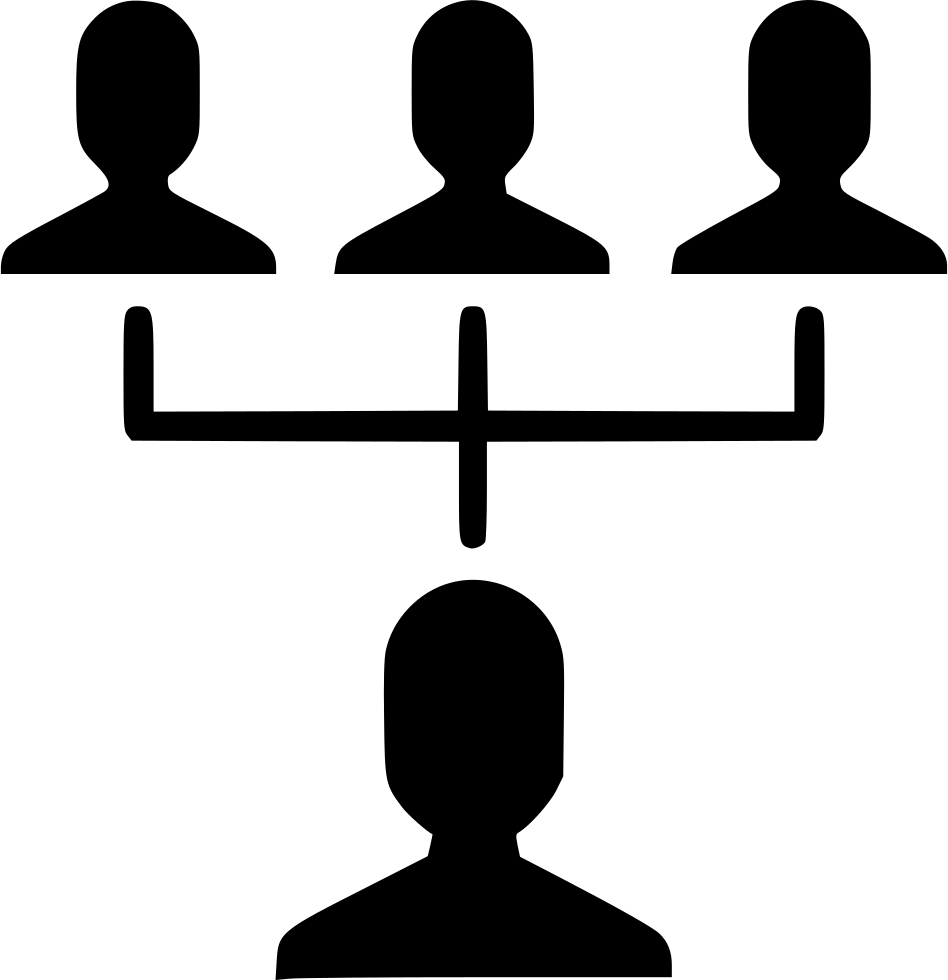 Hierarchy link community client. Manager clipart manager employee