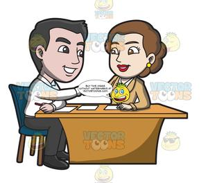 A hiring new . Manager clipart manager employee