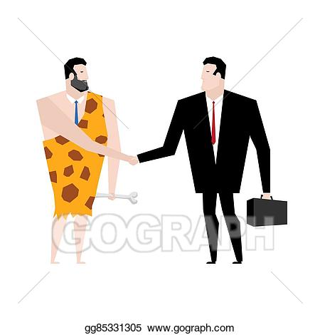 Eps illustration businessman and. Manager clipart old