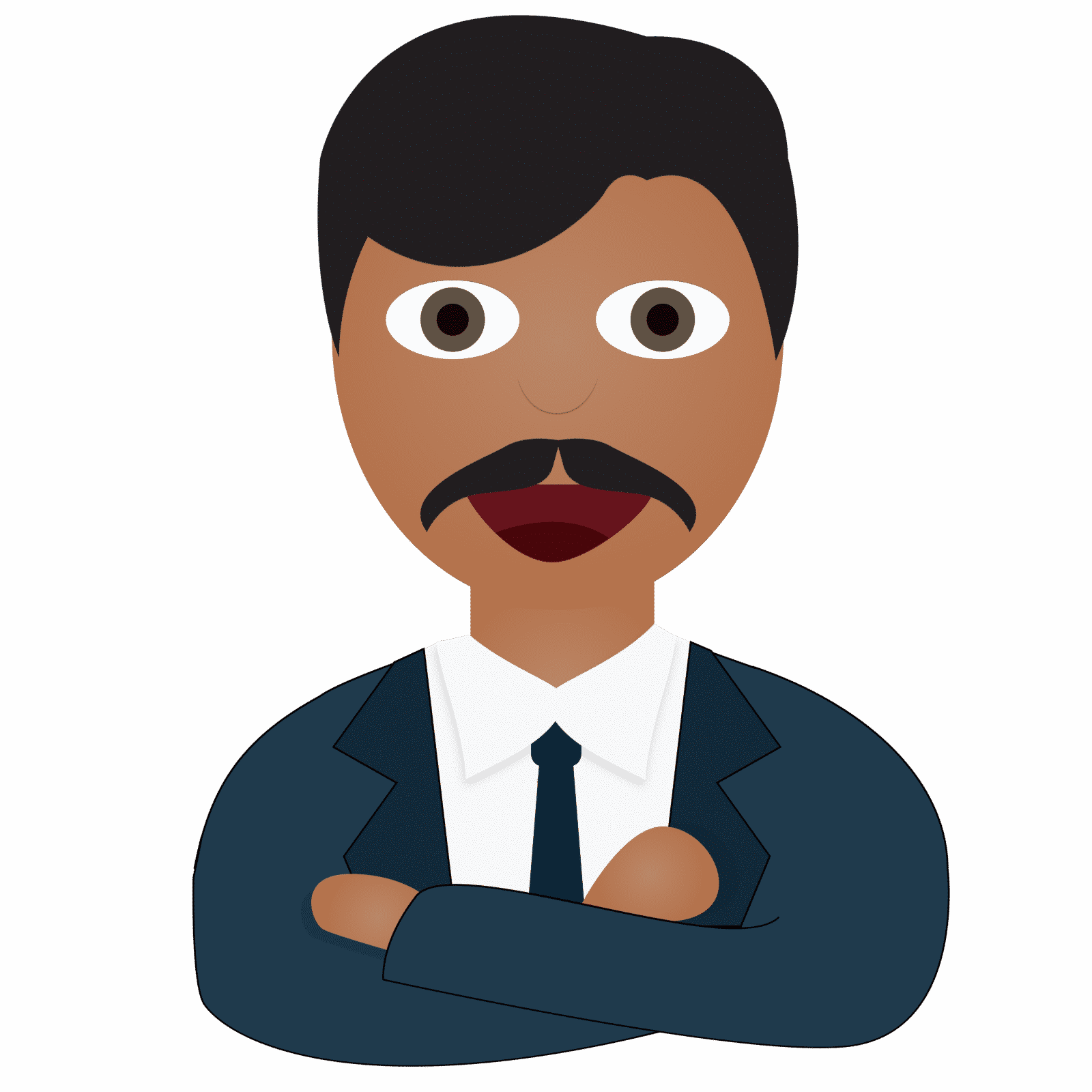 Manager clipart one man. Emoji hospitality leaders general