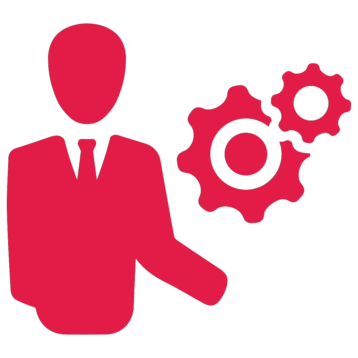 Fpr icon red it. Professional clipart technical manager