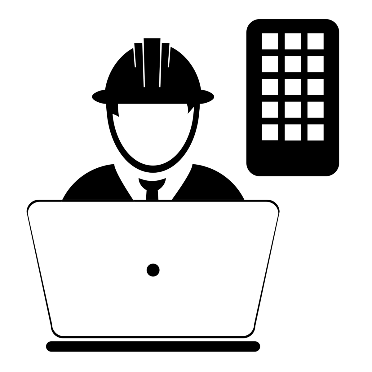 Icon mega construction group. Manager clipart production manager