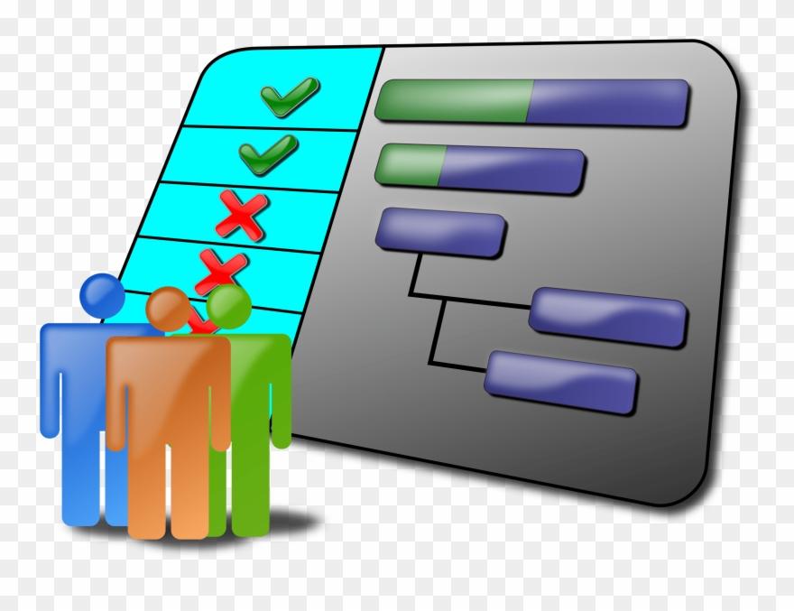 Gantt chart management . Manager clipart project schedule