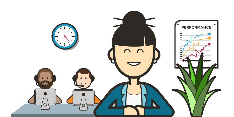 Call centre agent engagement. Manager clipart quality manager