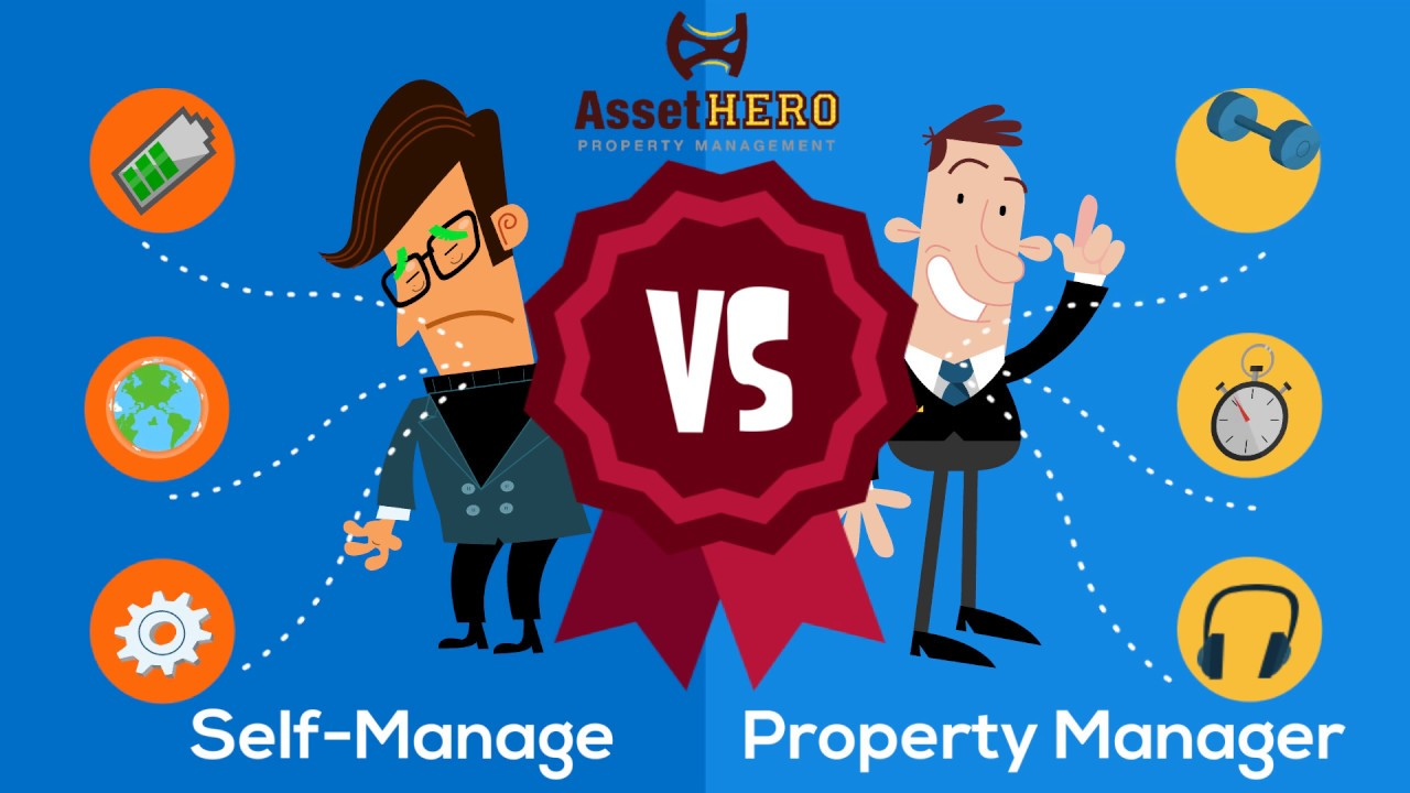 Vs hiring a property. Manager clipart self management