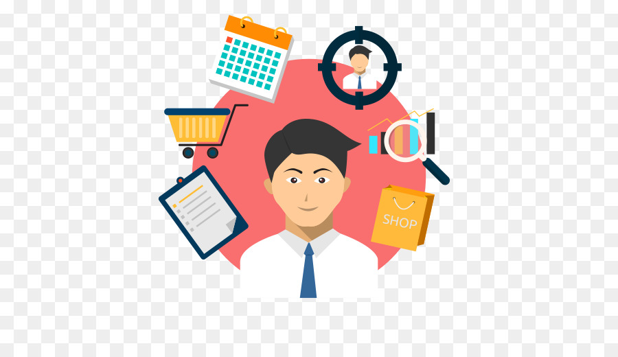 Business background retail communication. Manager clipart shop manager