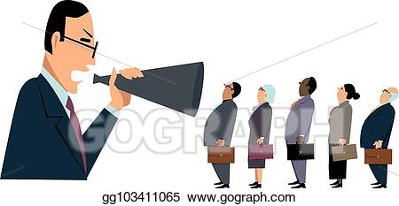 Vector art aggressive management. Manager clipart style