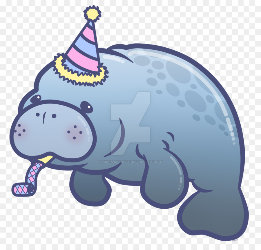 Manatee clipart baby manatee. Elephant cartoon fish transparent