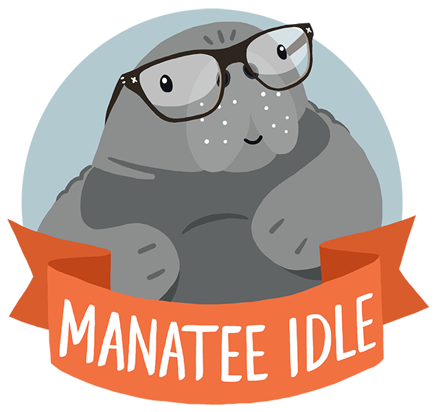 Manatee clipart baby manatee. Idle some life musings