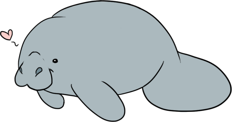 Clip art ourclipart pin. Manatee clipart baby manatee