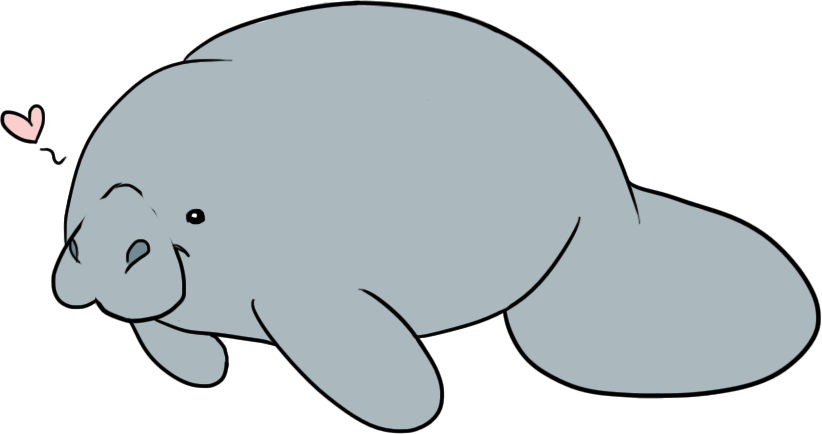 Manatee clipart black and white. Free download best on