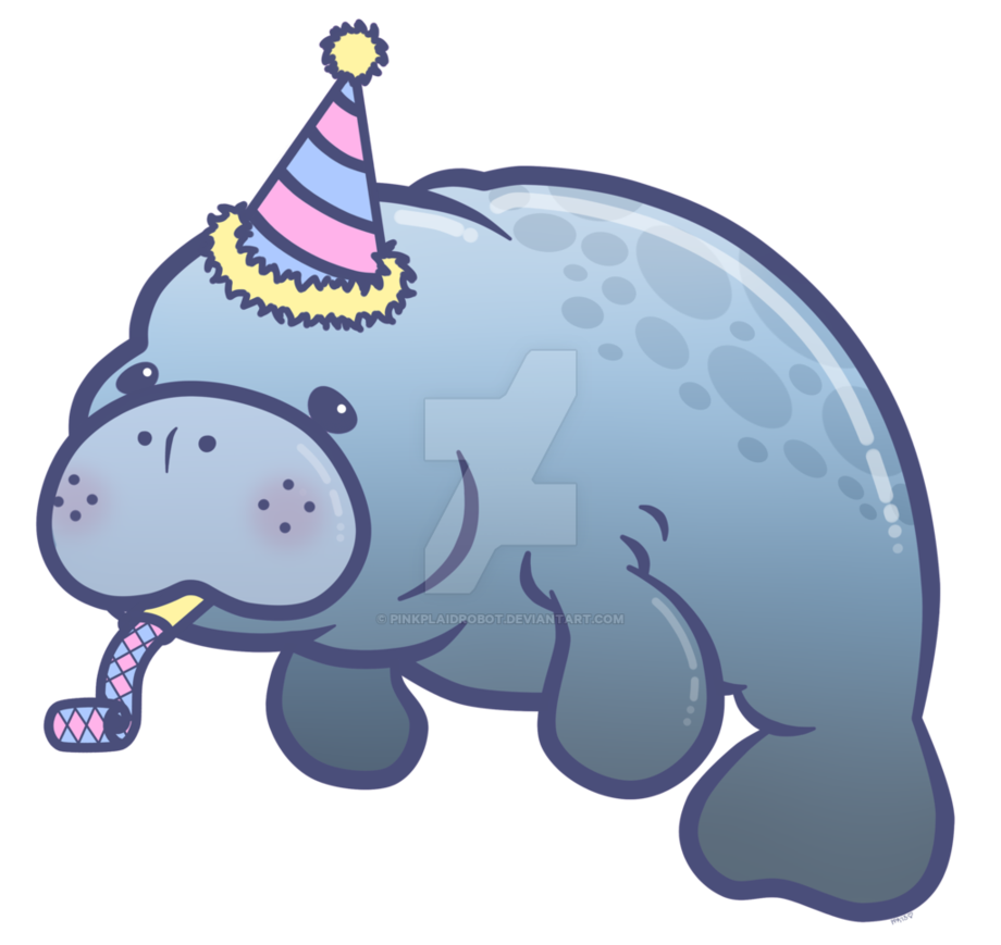 Party charm design by. Manatee clipart chibi