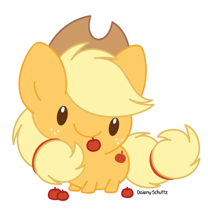 Manatee clipart chibi. Applejack by daieny on