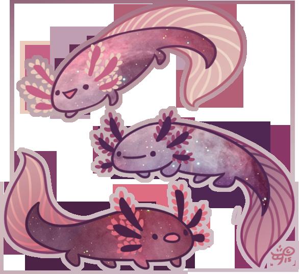Manatee clipart cute anime. Space axolotl by galadnilien