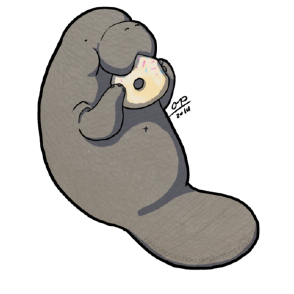 Manatee clipart cute anime. Drawing free download best