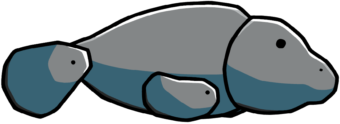 Manatee clipart dugong. Scribblenauts wiki fandom powered