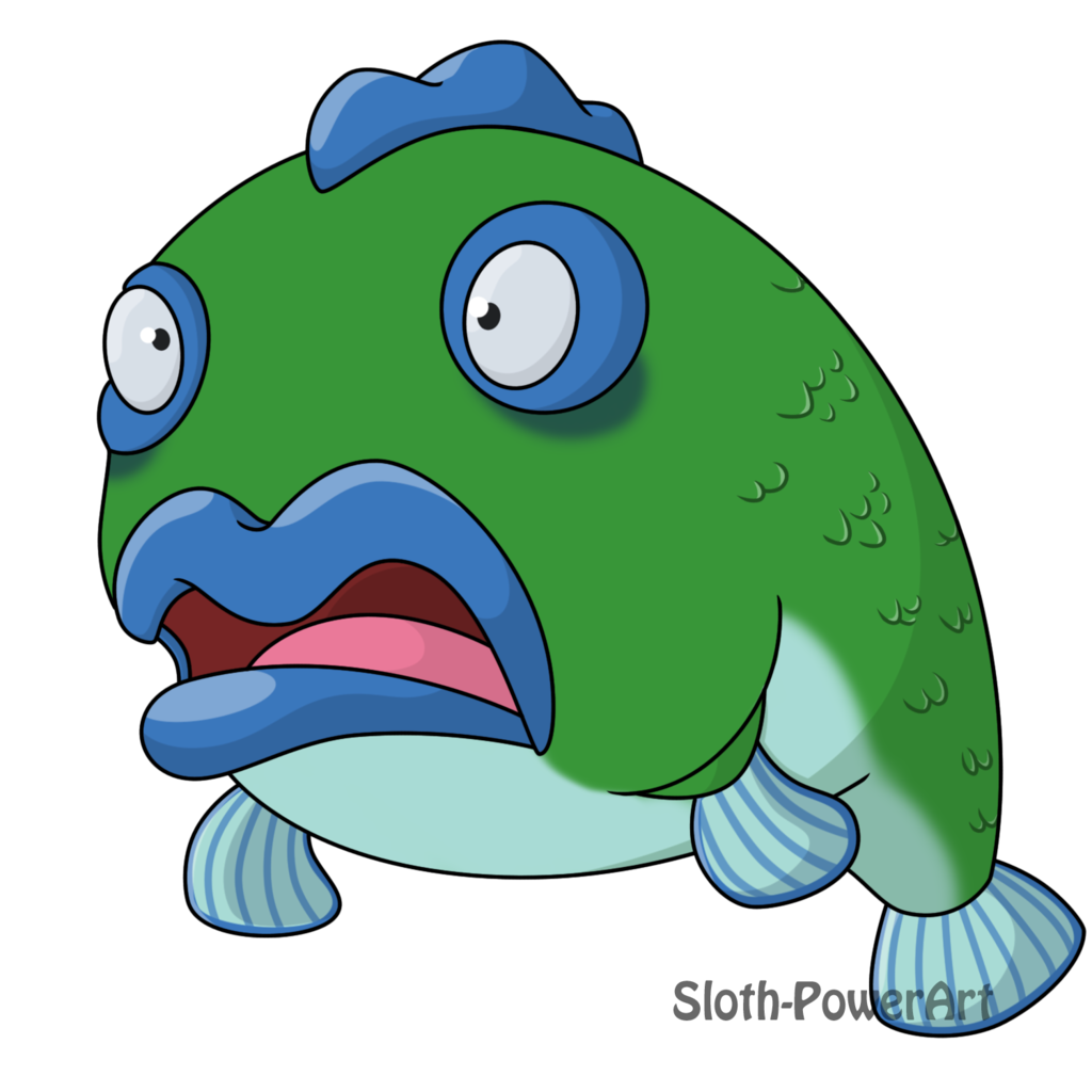 Scared fish by sloth. Manatee clipart marine mammal