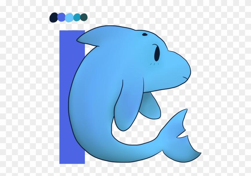 Cartoon dolphin bottlenose font. Manatee clipart marine mammal