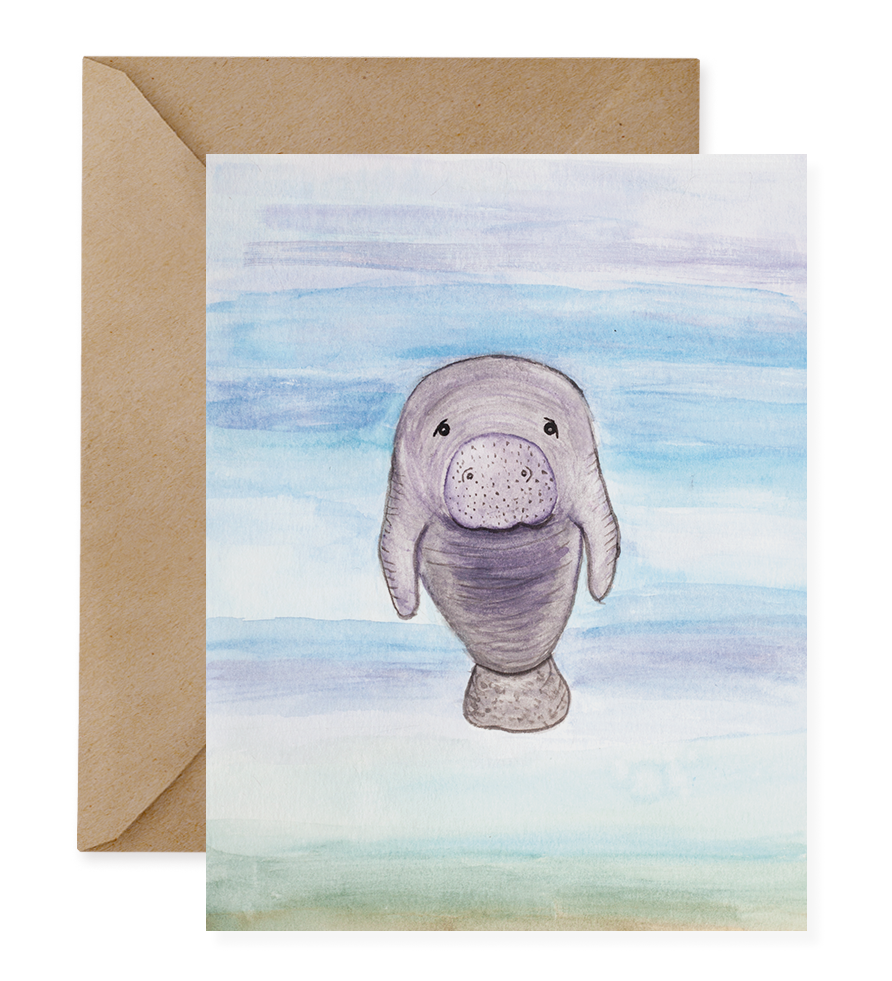 Manatee clipart sea cow. Red wolf products florida