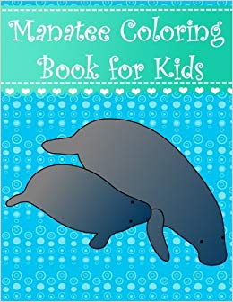 Manatee clipart simple. Coloring book for kids