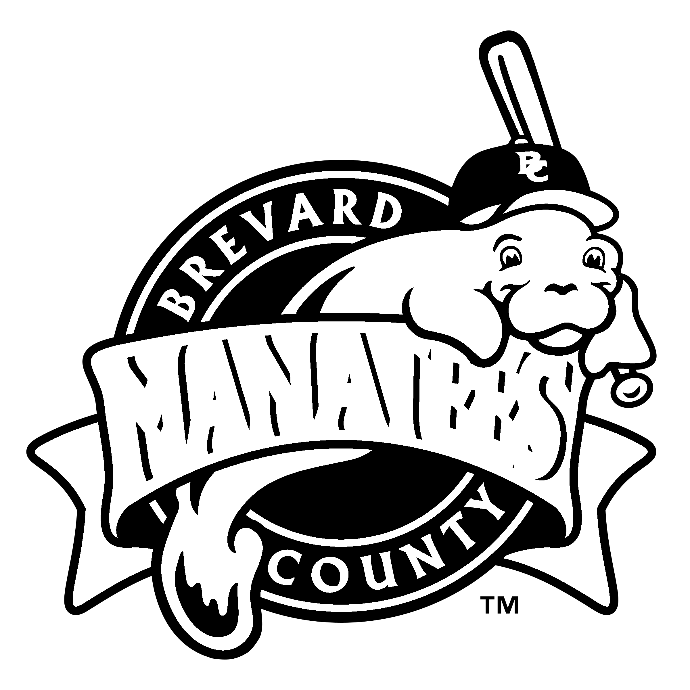 Brevard county manatees logo. Manatee clipart sketch