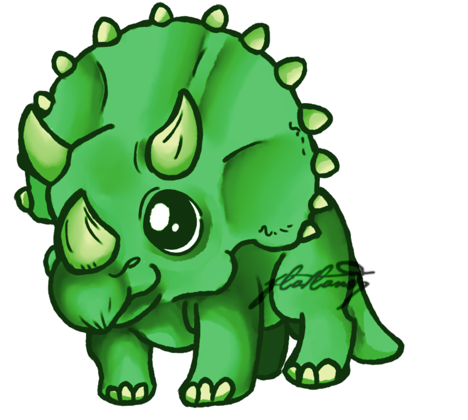 Manatee clipart sketch. Triceratops by flatlandq on