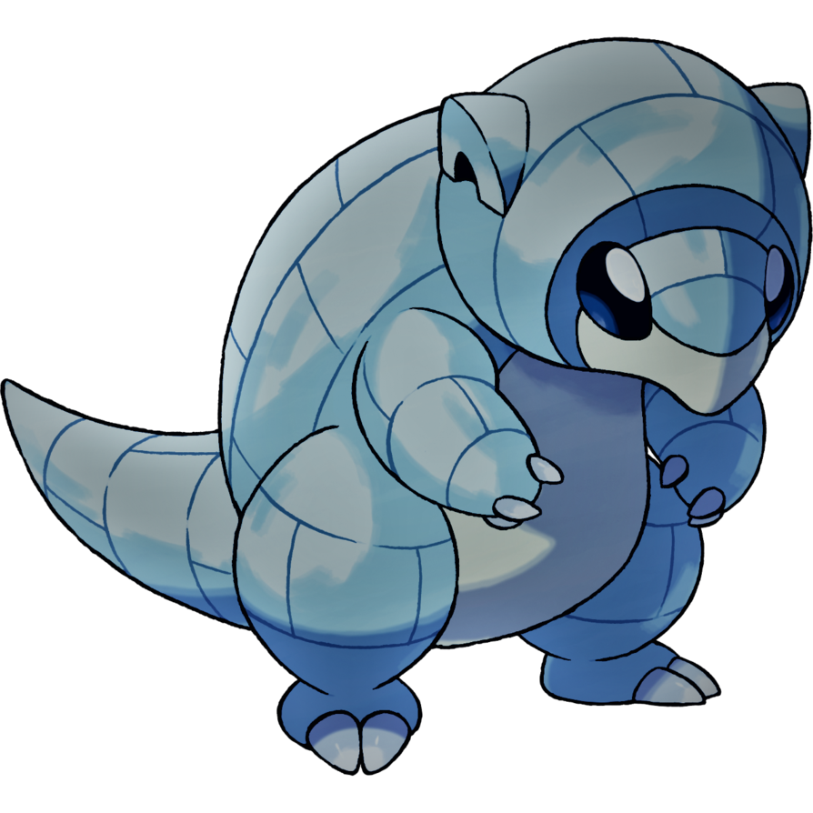 Alolan sandshrew ice and. Manatee clipart sketch