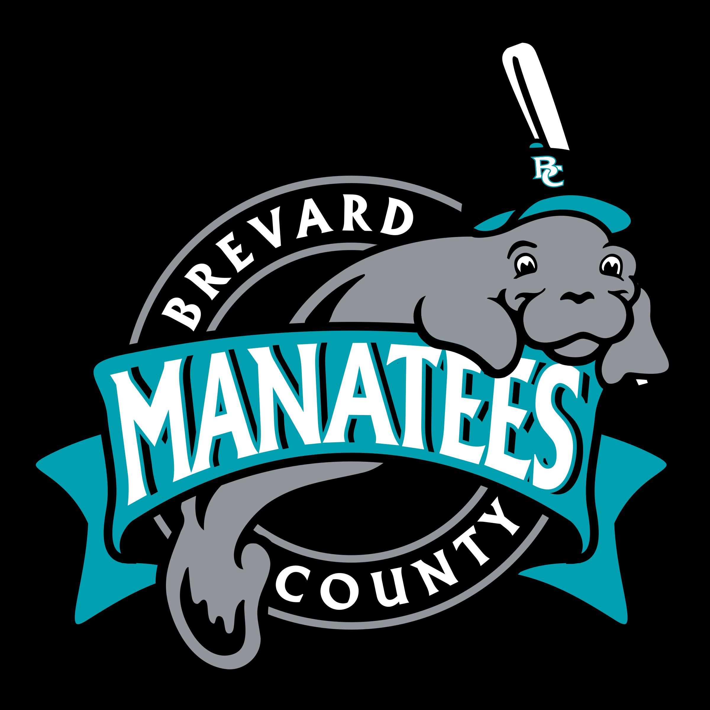 Manatee clipart svg. Brevard county manatees logo