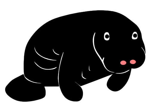 Manatee clipart svg. Free cricut files for