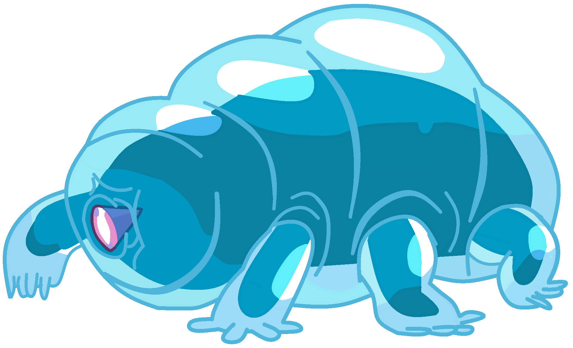 Manatee clipart tardigrade. Image water bearpng png