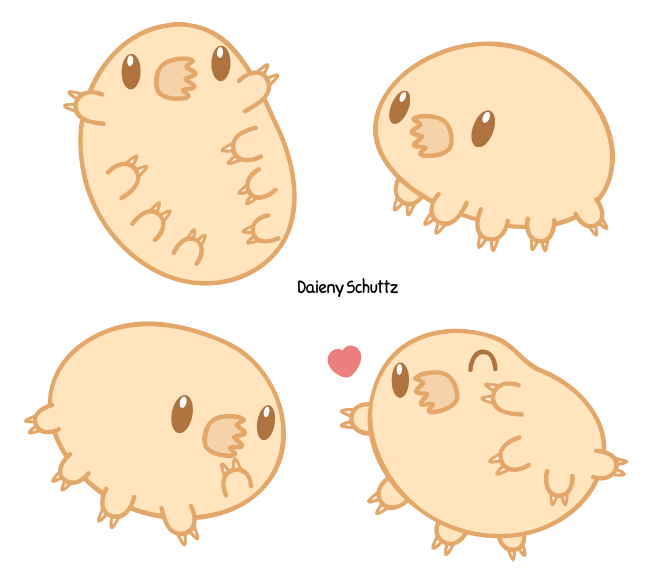 Chibi by daieny deviantart. Manatee clipart tardigrade