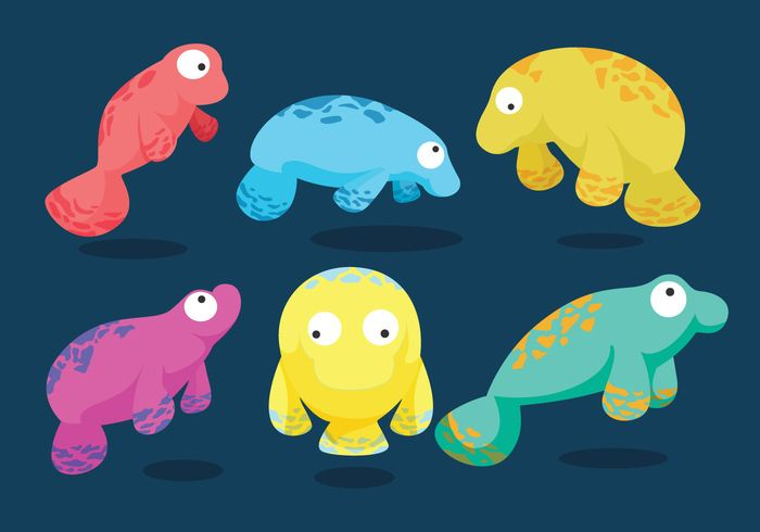 Manatee clipart vector. Plan art