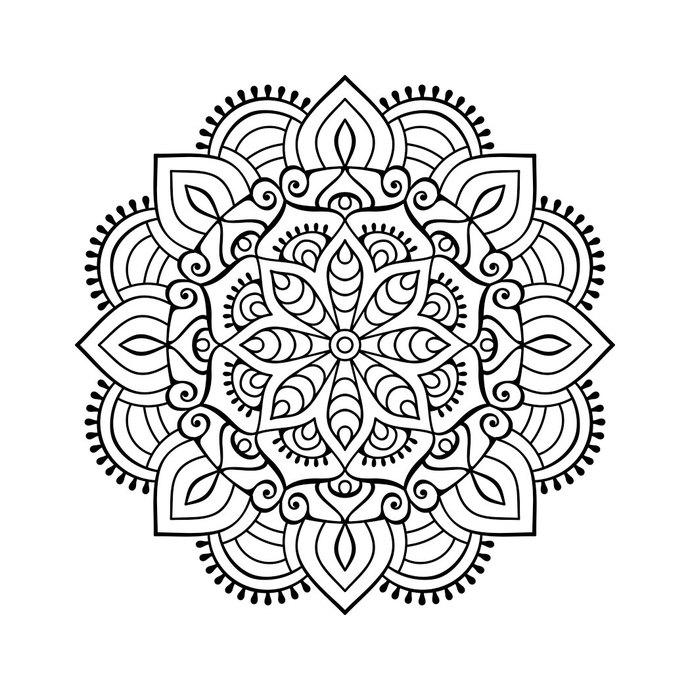 Graphics design svg dxf. Mandala clipart