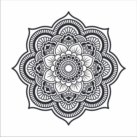 Artwork drawing iron on. Mandala clipart