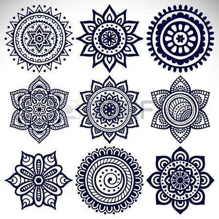 Mandala clipart. Stock vector illustration and