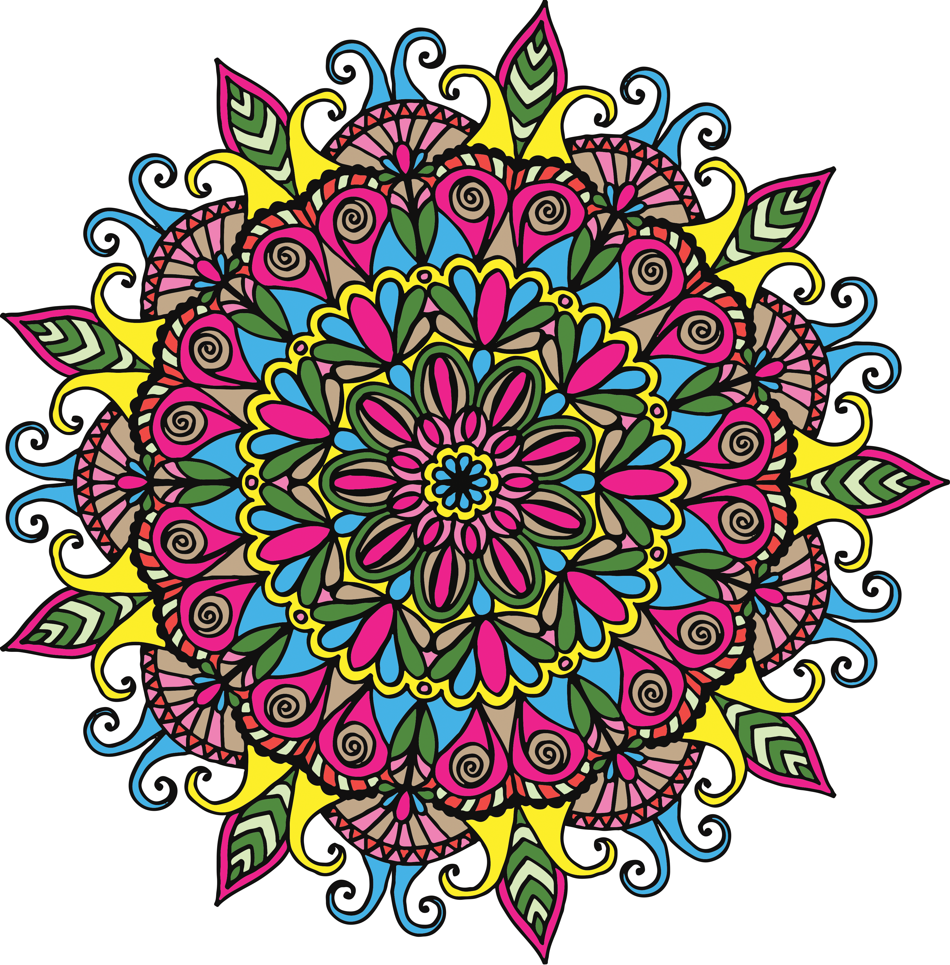 Mandala free at getdrawings. Dory clipart jpeg