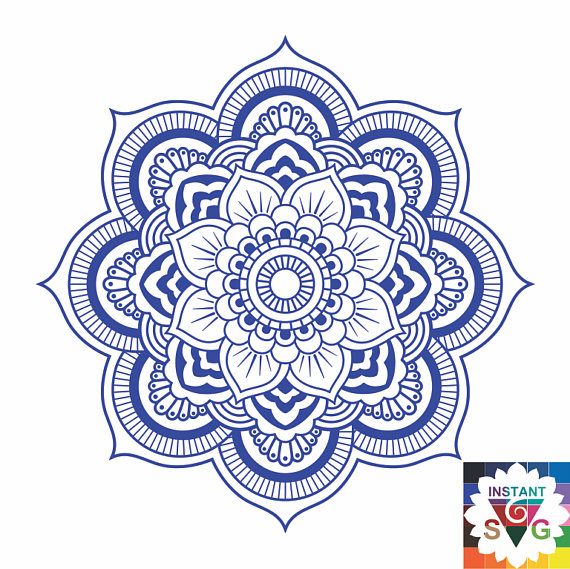 Tattoo design iron on. Mandala clipart