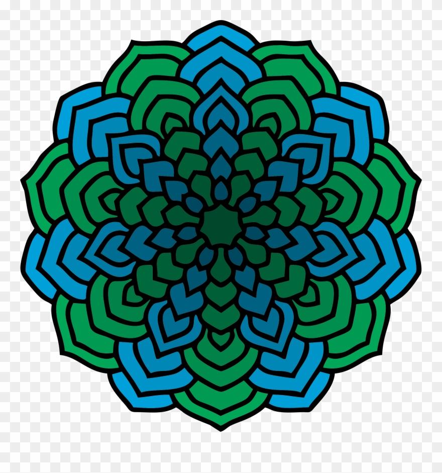 Image coloring to pinclipart. Mandala clipart big