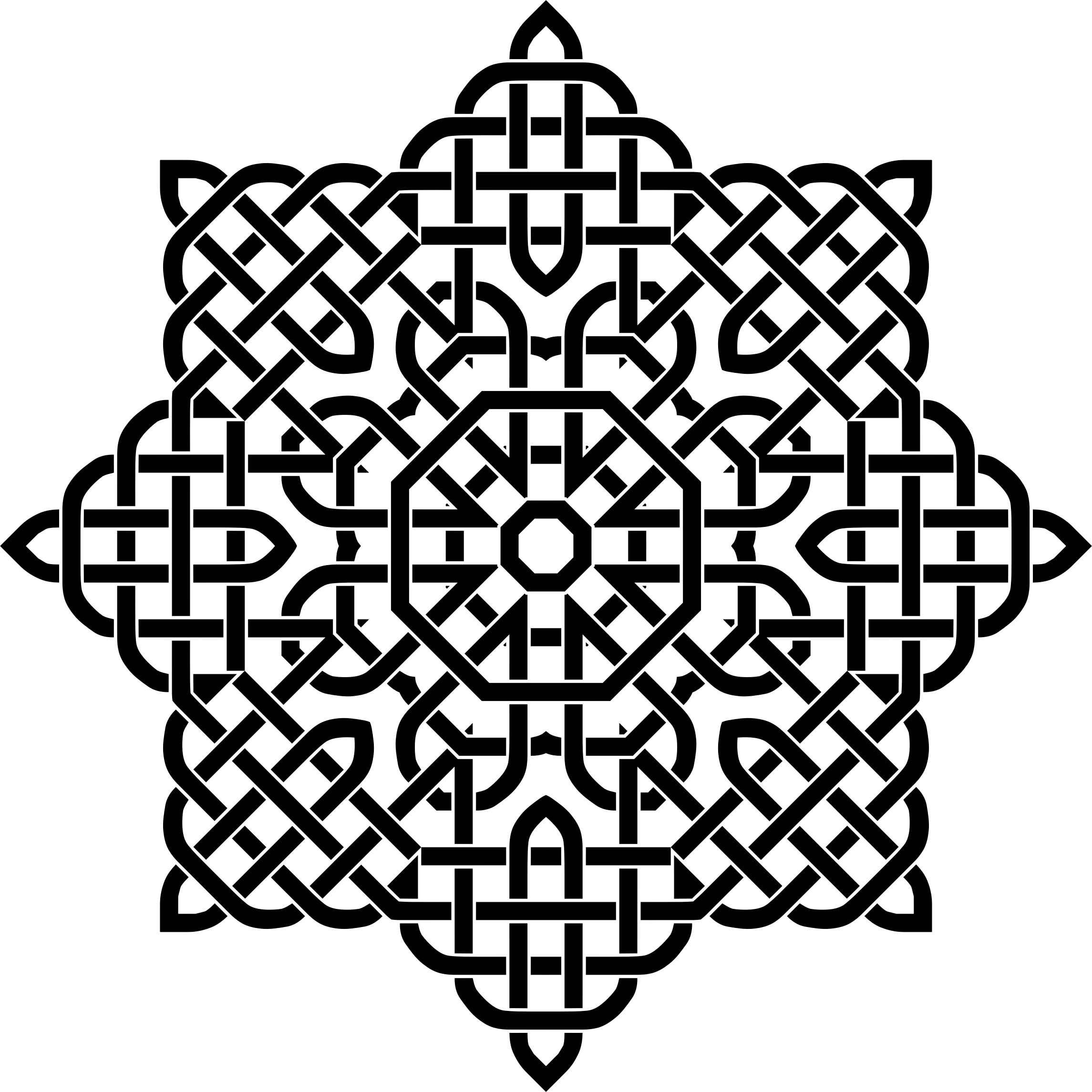 Mandala black and white