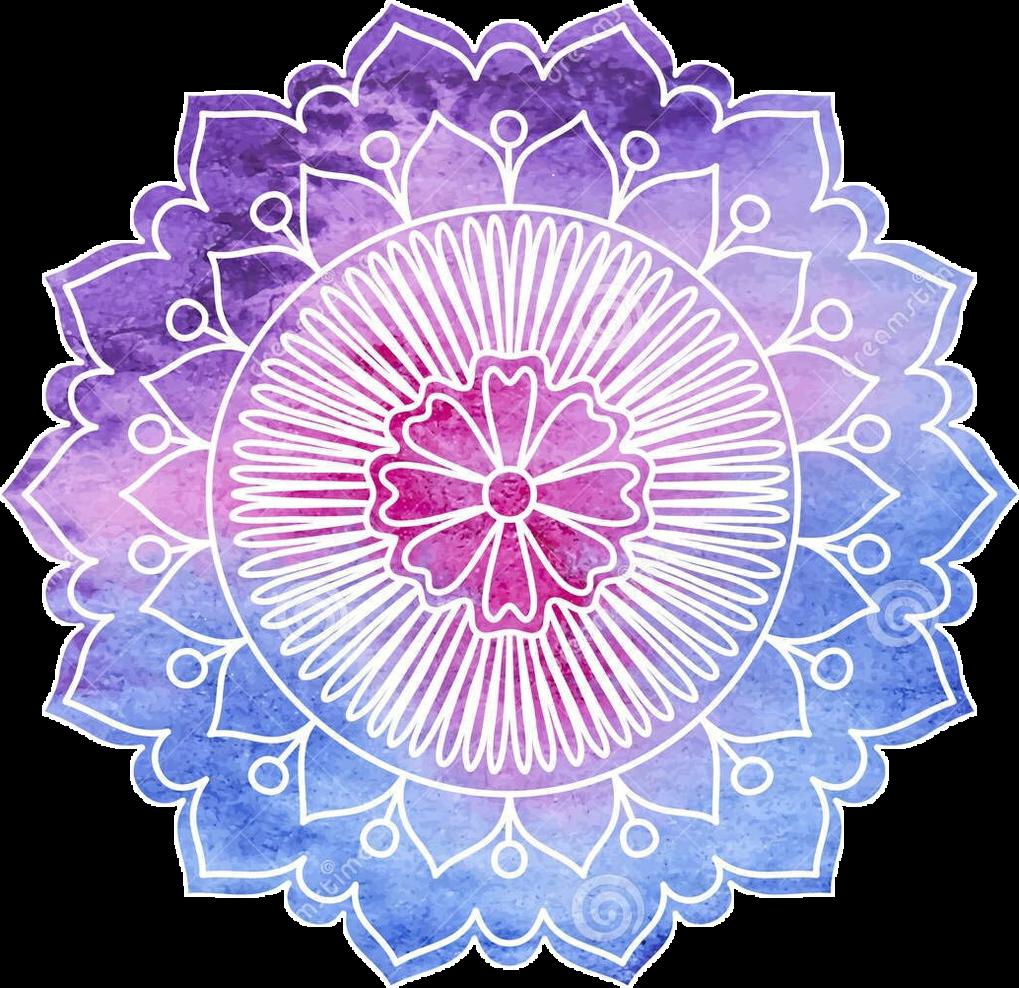 Mandala pink blue cool. Purple clipart doily