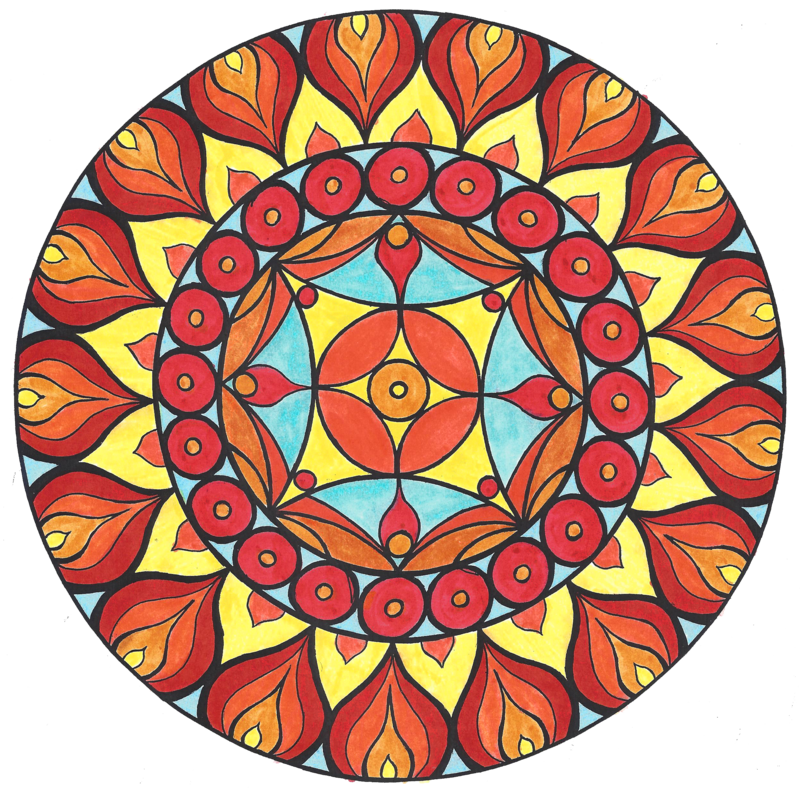 Color by samishii kami. Mandala clipart outlined