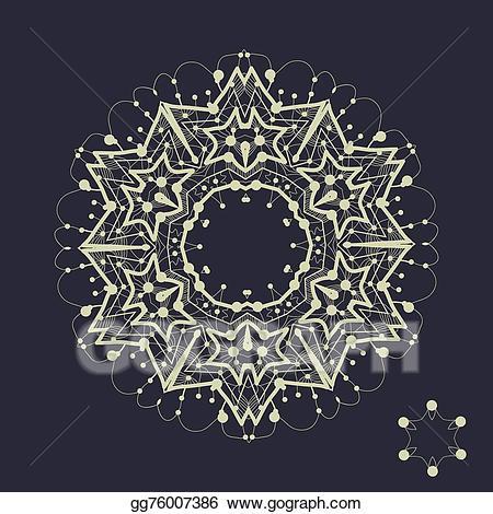 Clip art vector tribal. Mandala clipart outlined