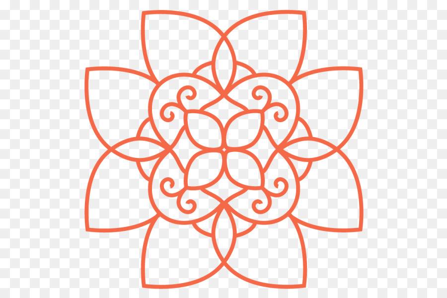 Mandala clipart rangoli. Black and white flower