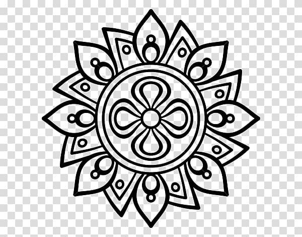 Mandala clipart rangoli. Drawing coloring book flower