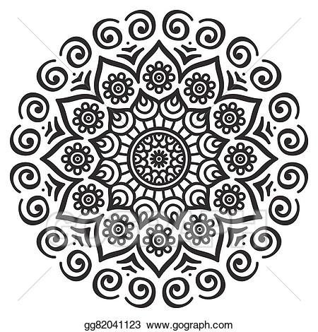 Vector illustration gg . Mandala clipart stock