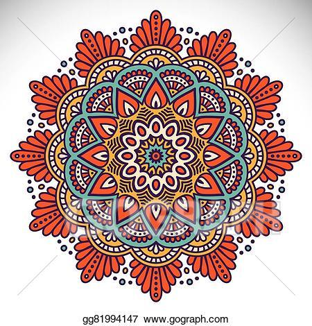 Mandala clipart stock. Vector illustration gg